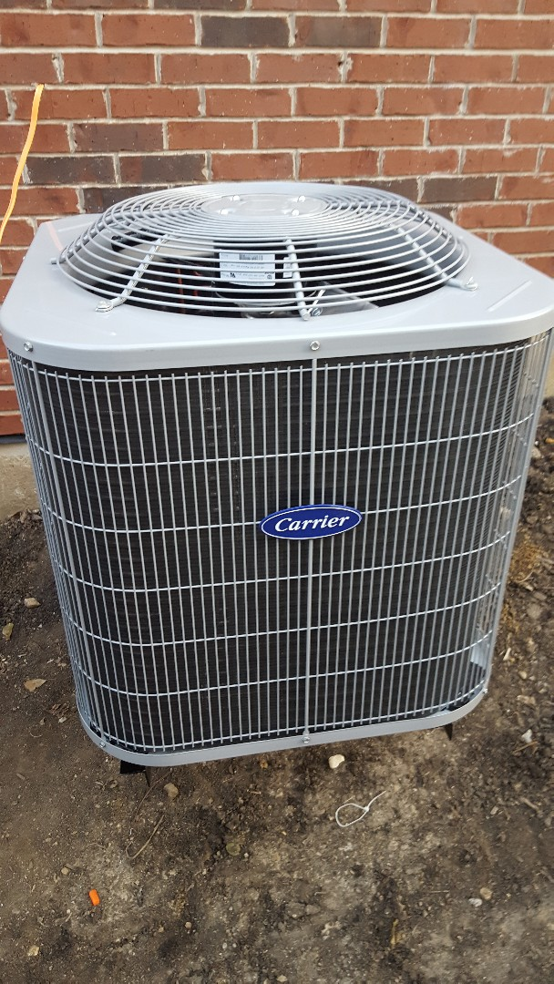 West Chicago, IL - New carrier air conditioning installation