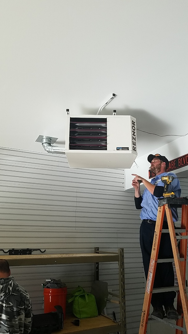 Wayne, IL - Reznor unit heater installed