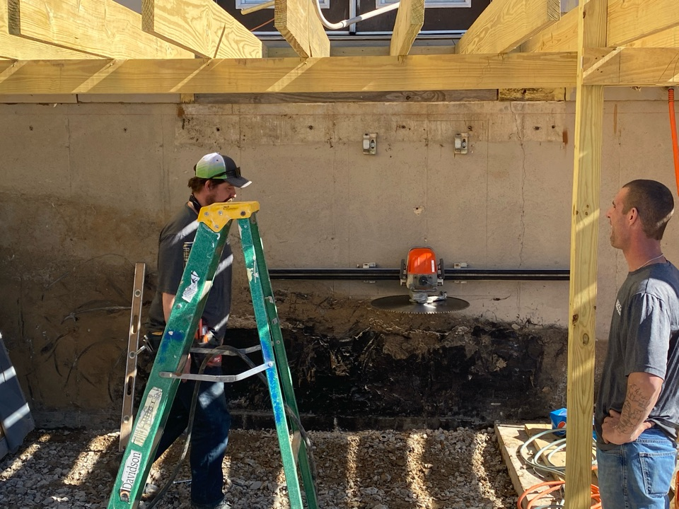 St. Louis, MO - Egress window being installed today.