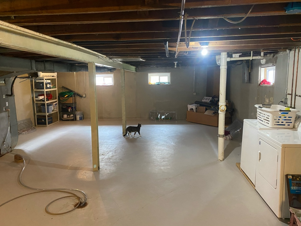 Columbia, IL - Basement waterproofing and crack repair happening for this customer.