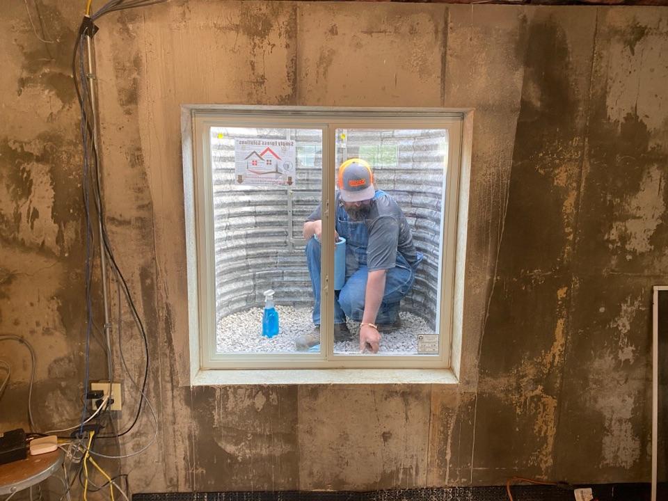 Columbia, IL - Egress window installation