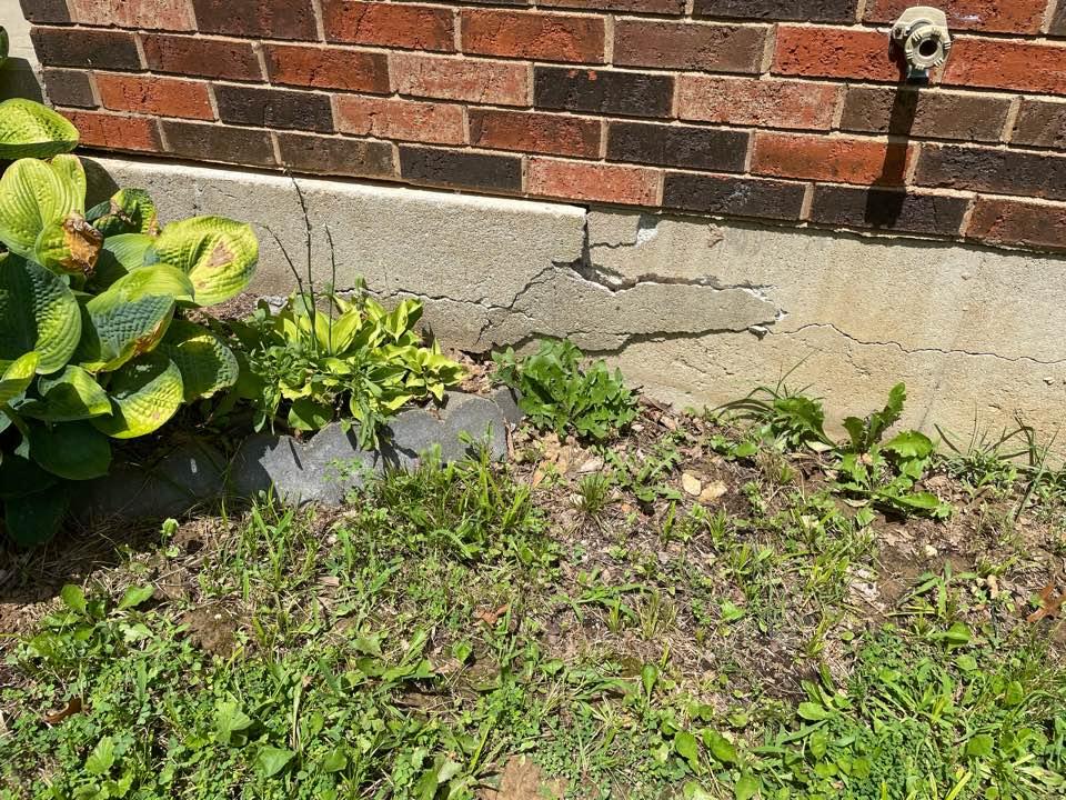 Columbia, IL - Foundation failure, carbon fiber structural mesh needed.