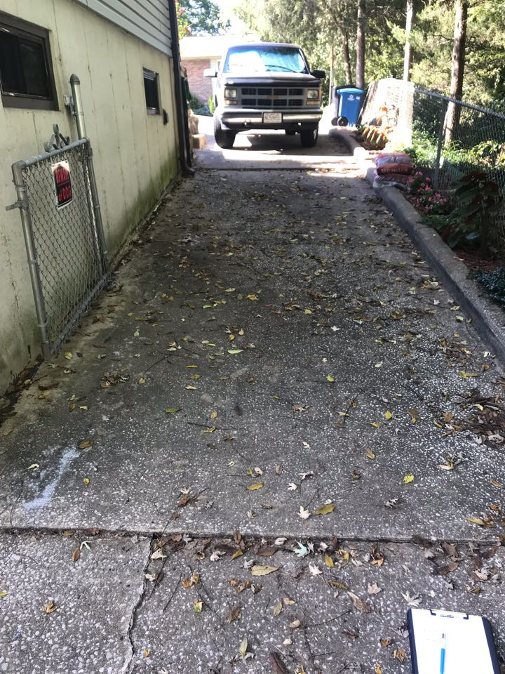 St. Louis, MO - Driveway sinking due to erosion over time