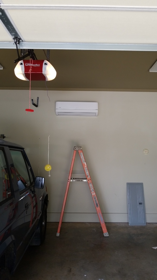 Oxford, MS - Installing mini split system in garage