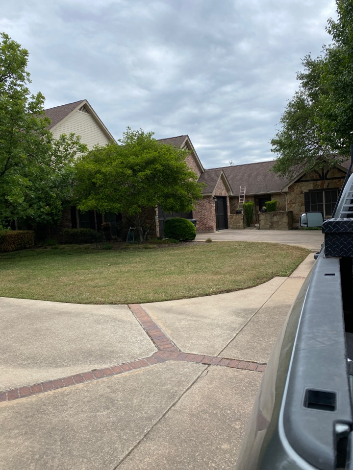Austin, TX - Inspecting the roof for hail damage and possible replacement