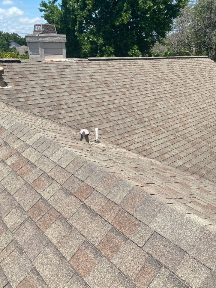 Round Rock, TX - Inspecting a hail damaged roof