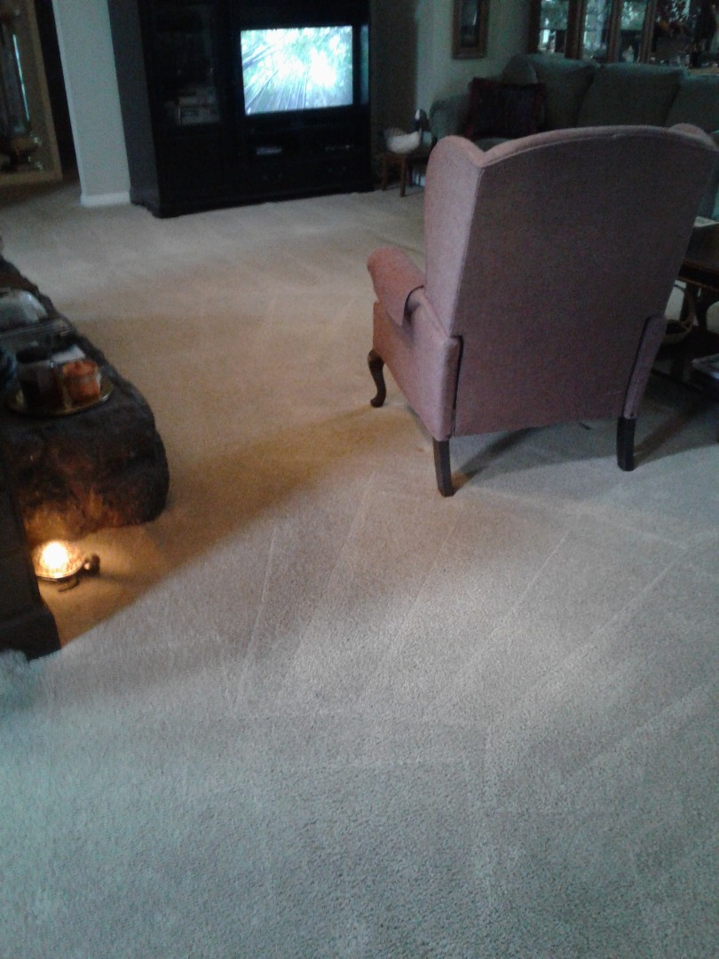 Did some carpet cleaning