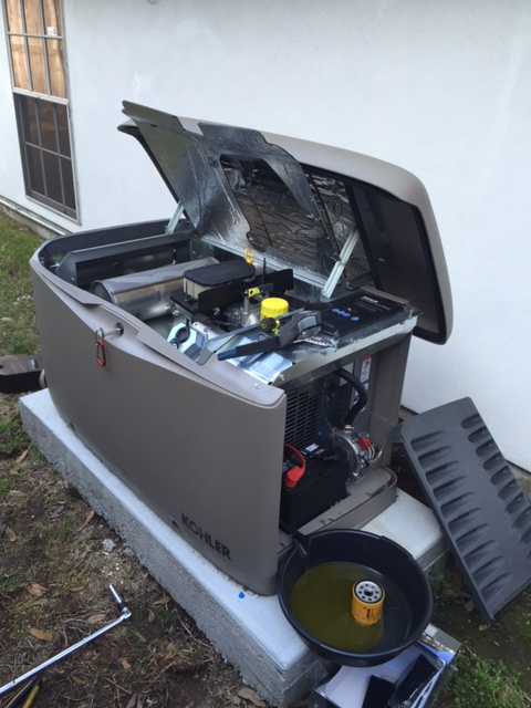 River Ridge, LA - Provided preventive maintenance plan for Kohler home standby generator from one of our installations.