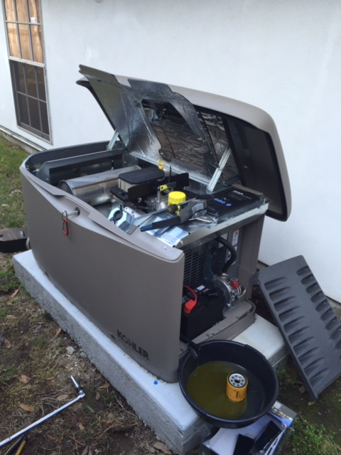River Ridge, LA - Provided preventive maintenance plan on home standby generator installation for a Kohler generator.
