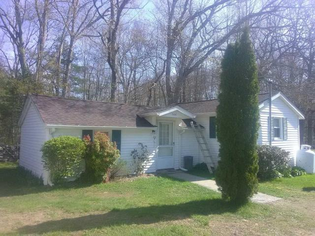 Sterling, CT - Replace old worn out roof, replace sheathing and repaired rotten exterior trim.Installed new GAF roof system color Barkwood