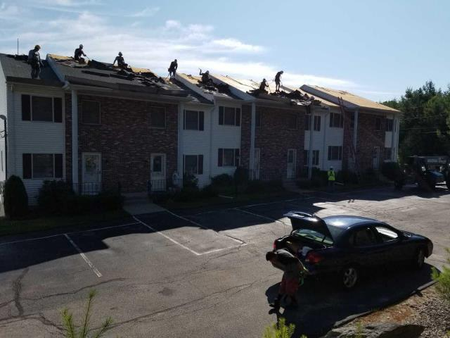 Johnston, RI - Continuing to make progress on our  reroofing project at a condominium complex in Johnston RI.GAF golden pledge. Color Slate. All GAF roofing accessories being installed to GAF specifications.