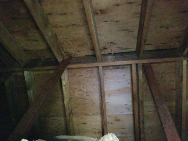 Groton, CT - Inspecting for proper ventilation in a attic on a residential property in groton ct