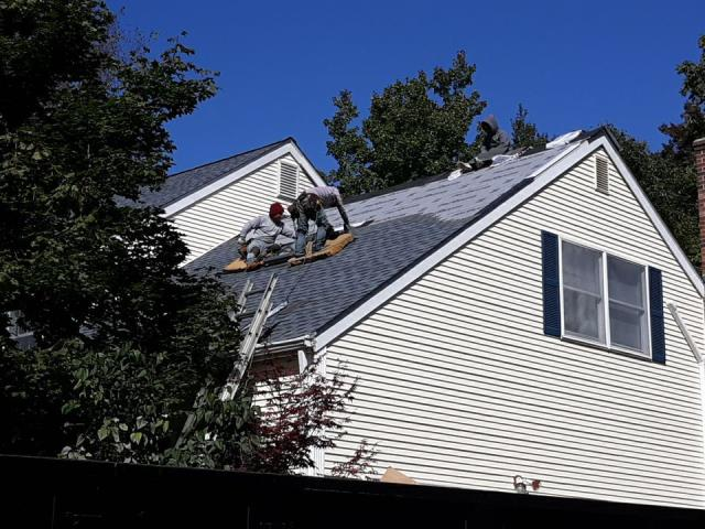 Groton, CT - New GAF roof system being installed in Groton Ct using GAF Timberline HD shingles.