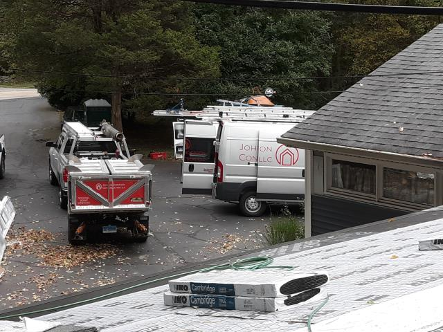 Norwich, CT - Installing IKO roof shingles to match existing roof in Norwich ct