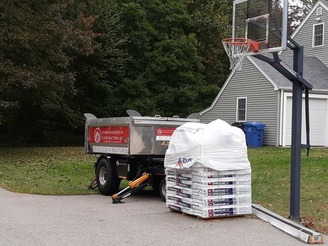 Oakdale, CT - Dropped off equipter and material on a property in Montville ct, ready for new GAF roof installation !