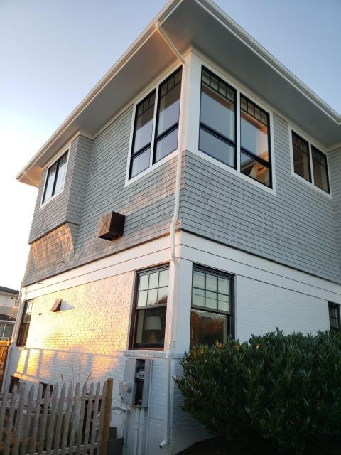 Middletown, RI - Just completed new custom downspout installation in Middletown RI