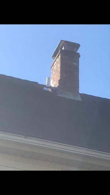 Waterford, CT - Roof repair in Quaker Hill Ct. Repaired leaking pipe boot and fixed chimney flashing that was leaking.
