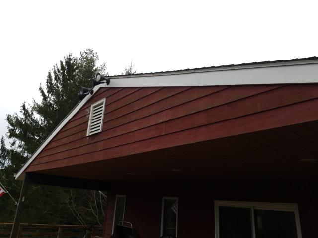 North Stonington, CT - Inspecting a roof in North Stonington Ct. This 25 to 30 year old two layer roof needs to be removed and replaced with a new roof. We repaired this roof 2 years ago to buy some time, but now it needs to be replaced. We are recommending that a new GAF Timberline HDZ shingle be used. With a Golden pledge warranty.