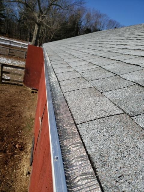 Glasgo, CT - New Stainless steel gutter guards installed