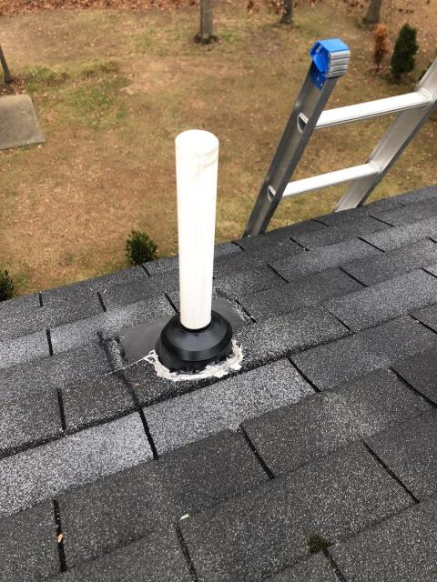 North Stonington, CT - Doing a roof inspection in north stonington ct. This roof is getting a tune up. Reseal pipe flashings, seal exposed nails, look for missing shingles. This roof should be ok for another 5 years.