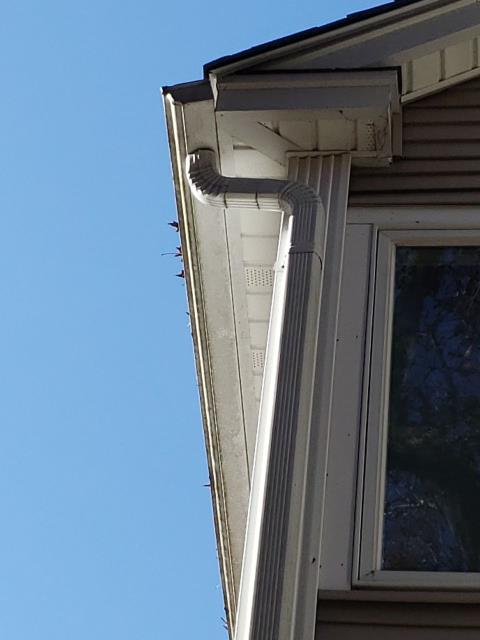 Hopkinton, RI - Giving a proposal to a customer in Ashaway RI for new seamless gutters. We remove old gutters and replace with new seamless gutters and downspouts. New stainless steel gutter guards