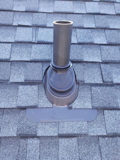 Salem, CT - The ultimate  pipe flashing installed along with a new GAF roof system on a property in Salem Ct.We used GAF Timberline ULTRA HD roofing shingles with all of GAF'S roofing products. Golden Pledge warranty