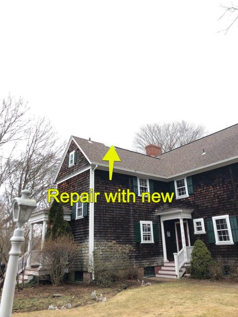 North Kingstown, RI - Doing a full roof inspection on this home in North Kingstown RI. This is a full roof replacement project. All existing shingles will be removed. Fix any damaged sheathing. Install a full GAF Roof System using the New GAF Timberline HDZ roof shingles with a lifetime warranty.