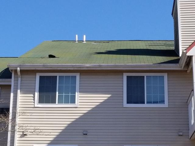 Jupiter Point, CT - More roof damage from high winds in Waterford Ct. Missing shingles need to be repaired!