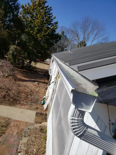 Glasgo, CT - Installed stainless steel gutter guards and new seamless gutters on this property in Voluntown Ct.