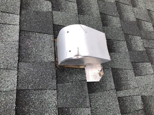 Griswold, CT - This vent is leaking. The roof was replaced in past 5 years but the contractor reused the old vent and now its leaking! New vent will be installed