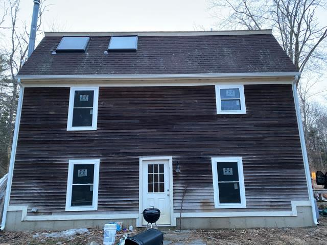 Hopkinton, RI - Another replacement window project completed. Replaced existing windows with new Harvey windows in Hopkinton RI. All new Azek PVC trim installed to replace the rotten wood trim.