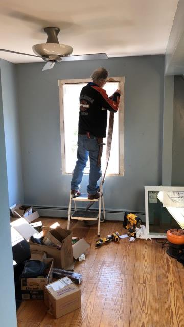 Preston, CT - Installing New Harvey Windows in Preston Ct. Interior trim is all new and painted