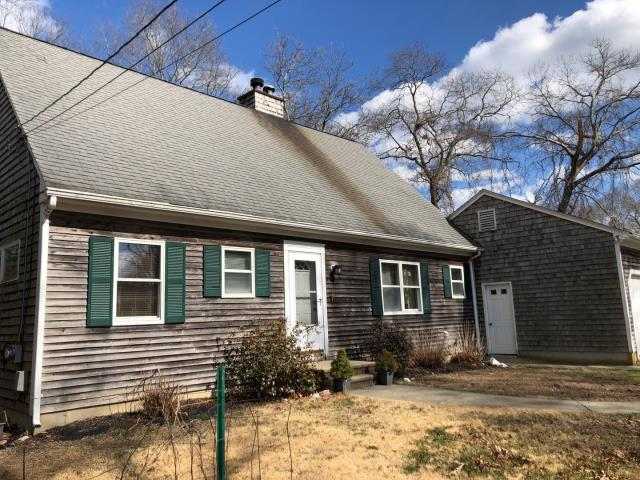 East Lyme, CT - Chimney cap is rusting and staining roof. When new GAF roof system is installed we will be sanding and painting cap to prevent and more staining.