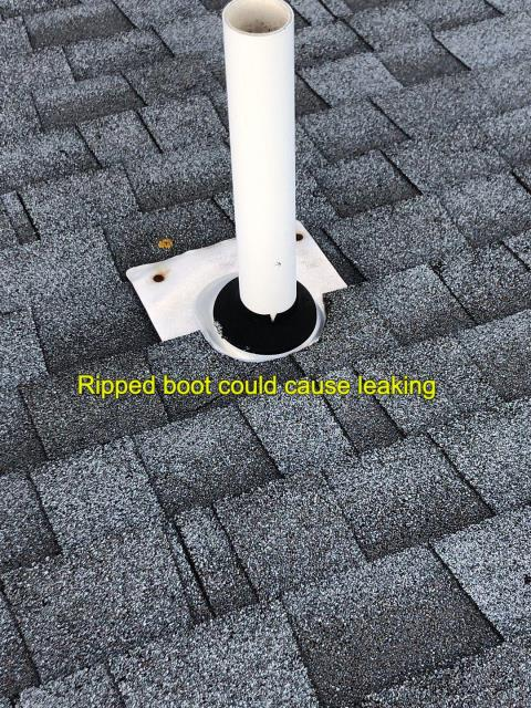 New London, CT - Roof repair in New London Ct. New pipe flashing needed.