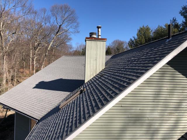North Stonington, CT - Inspecting a leaky roof in North Stonington CT. Time for a full roof replacement. New GAF timberline HDZ roof system
