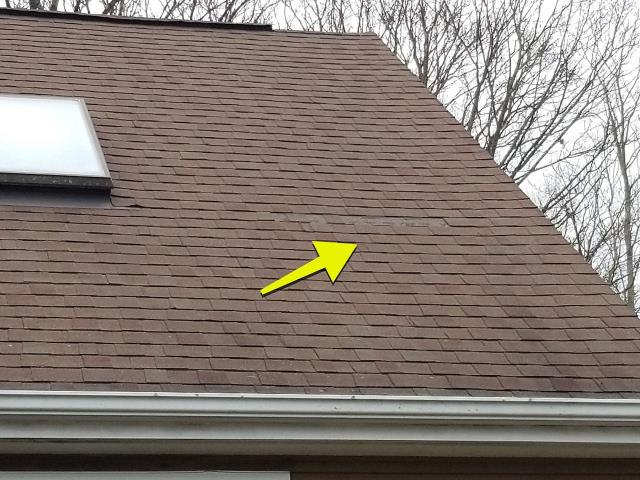 Stonington, CT - Called to this roof in Pawcatuck CT with missing roof shingles. Working with this homeowners insurance company to see if this wind damage is covered by there homeowners policy. A new GAF Timberline HDZ shingle is a great option on roof shingles to use to prevent blow offs in the future.