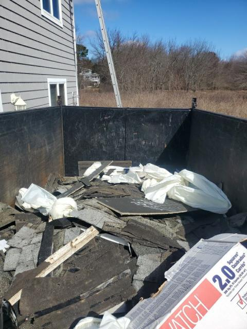 Charlestown, RI - All the roofing debris from our roofing projects are recycled at the transfer station. Old shingles will be used for new roads!