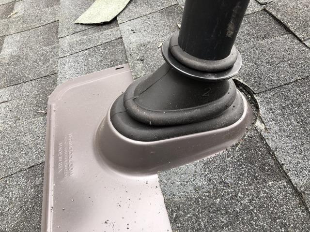 Stonington, CT - New ultimate pipe boot installed in Stonington CT on a new GAF Roof system that was installed. Golden pledge warranty will cover the ultimate pipe boot as part of the GAF warranty!