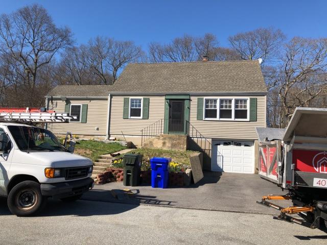 Groton, CT - This roof is done! Full roof replacement in one day! New GAF Roof system was installed with a system plus warranty.