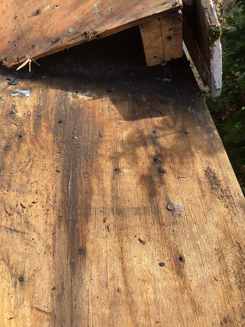 North Kingstown, RI - Many times on a roofing project we come across rot or damaged trim. We have qualified carpenters on every project to handle any carpentry surprises that may come up. This rotten trim was replaced before the new GAF Roof system was installed.