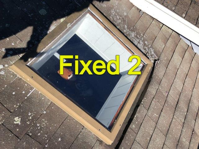 South Kingstown, RI - Upcoming project. Will be replacing this old leaking fixed skylight with a new VELUX skylight in South Kingstown RI
