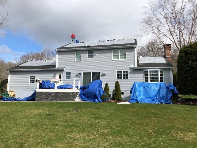 South Kingstown, RI - This roof is getting the Golden Pledge warranty. Here you can see the roof all prepped and ready for the shingles to get installed. ALL GAF Accessories used on this roof system. Two rows of ice & water.Half roll of ice & water up the rakes. Next the GAF timberline HDZ roof shingles will be installed.