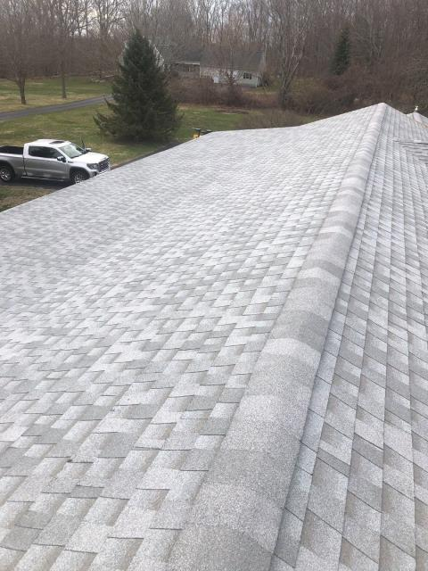 Ledyard, CT - Roof inspection for a realtor in Ledyard CT. This roof has plenty of life left!  Home inspector had some concerns that we were able to take care of.