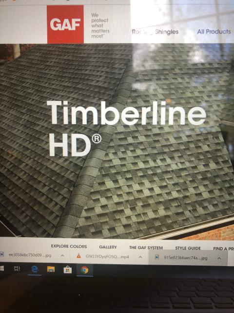 Glasgo, CT - Today I am going over a proposal with customers thru our virtual Platform. Here we are going thru the GAF Colors that are available in the new GAF Timberline hDZ shingles