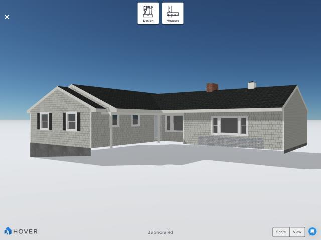Westerly, RI - Working with one of our virtual tools today showing homeowner some pictures of what there new cedar impressions and GAF roof will look like when completed!