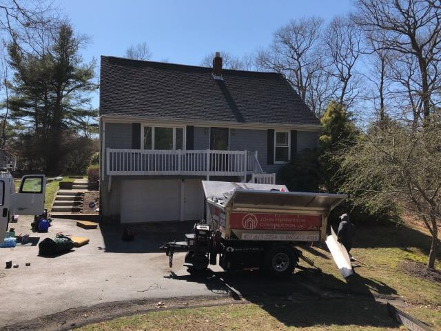 Westerly, RI - This roof is done! Full roof replacement in Westerly RI in one day! New roof no mess!GAF Timberline HDZ shingles installed golden pledge warranty.