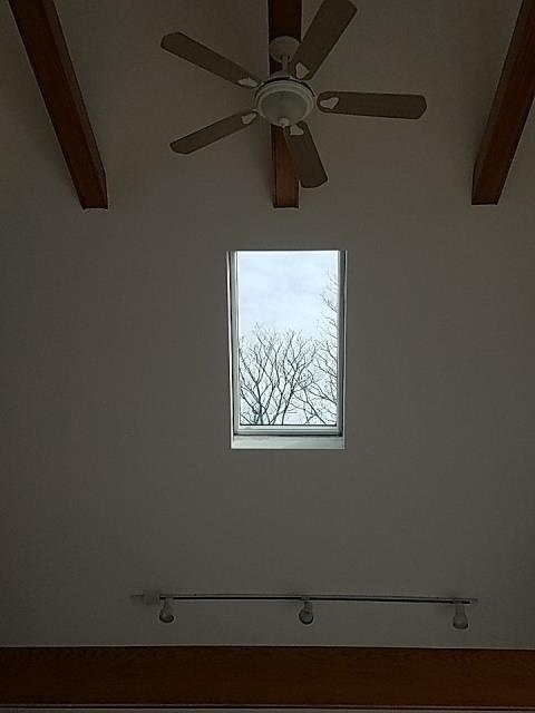 Charlestown, RI - Skylight replacement. This new Velux skylight replaces an old leaking skylight. This skylight is a fixed unit which does not open.