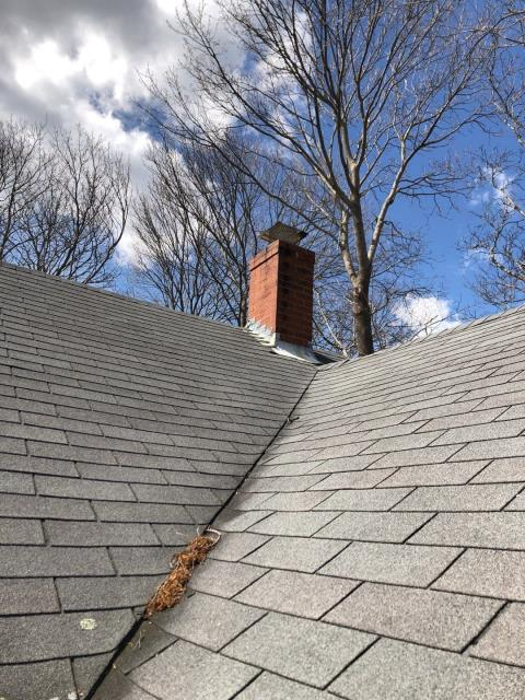 East Lyme, CT - This old two layer three tab roof needs to be replaced. Chimney needs to be sealed. Will propose a new GAF roof system using all GAF accessories anda system plus warranty. Great property to use equipter. New Roof no mess.