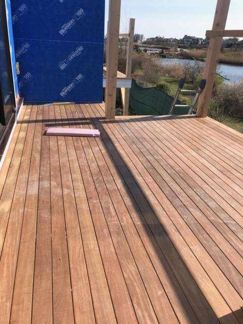 Westerly, RI - Our carpenters are continuing to make progress at the Weekapuag INN in Westerly RI. The decking is getting installed now and railing will be next. Still waiting on special order siding to get delivered. Pre stained wood shake siding