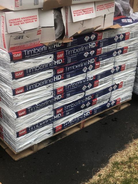 East Lyme, CT - All GAF Accessories are on site in East Lyme ct today and crews will be on site for 8 am to start this full roof replacement. The New GAF Timberline shingles have the best protection against high winds with a no limit wind protection!